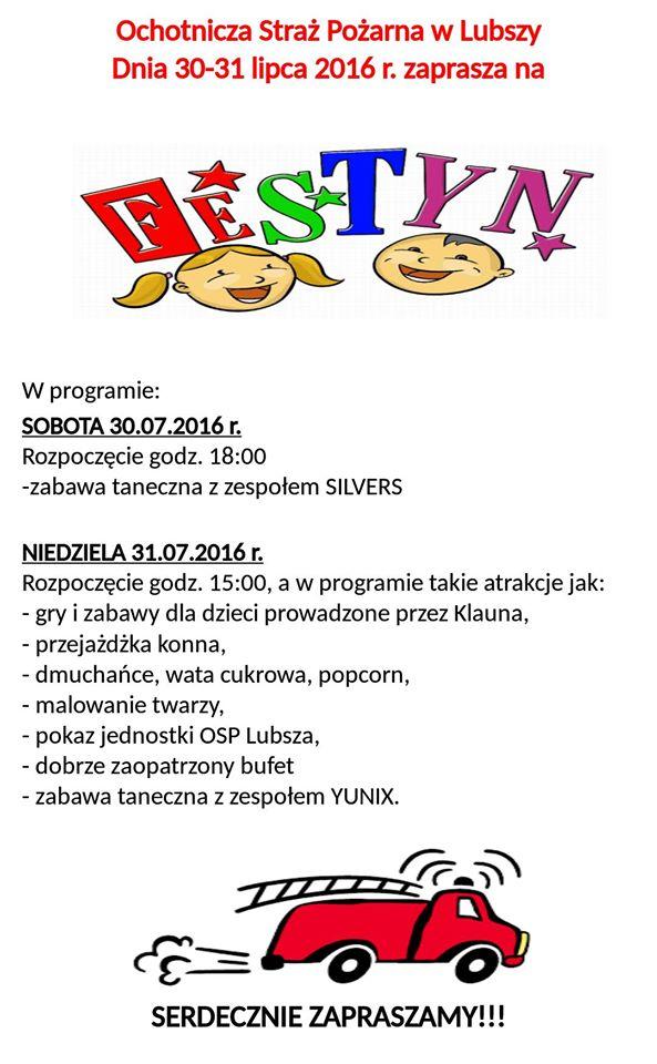 plakat festyn strazacki